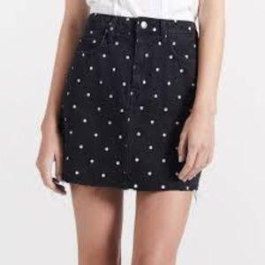 Current/Elliott 5 Pocket Cut Off Mini Skirt